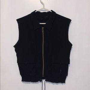 Axara 2000 black zip up vest, size 10